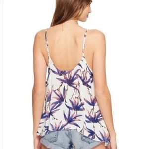 Free People Intimately Free Floral White Camisole